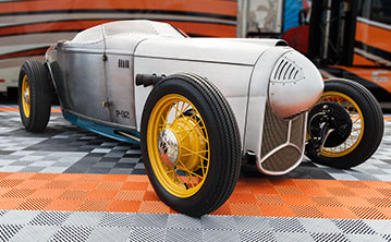 Chip Foose's p32 on RaceDeck garage flooring
