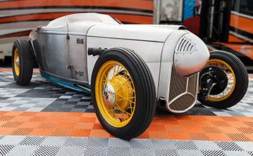 Chip Foose's p32 on RaceDeck garage flooring