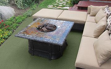 Deck with DuraGrid Deck Tile