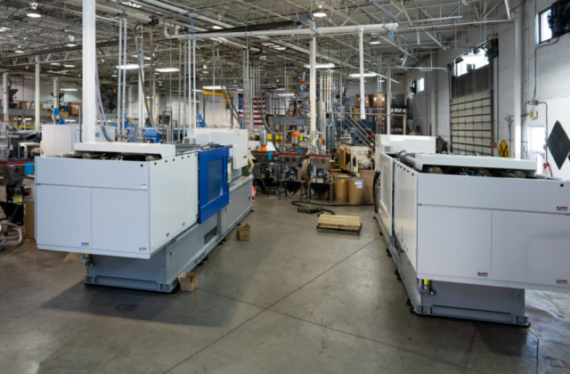 View of manufacturing after the new machines were added